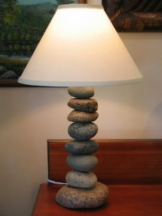 Wilderness Creations :: Rustic Lighting :: Stone Cottage Lamp (Large)