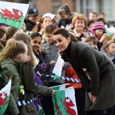 The Duke and Duchess of Cambridge arrive in Caernarfon Castle Square, for a day of engagements in North Wales focussed on work carried out by organisations to improve the mental wellbeing of young people.  Image© Press Association