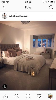 Our bedroom looking this cosy when it's cold outside is exactly what I need! - Home sweet Home - Bedroom Decor Room Ideas Bedroom, Teen Room Decor, Home Decor Bedroom, Teen Bedroom Designs, Bedroom Ideas Creative, Square Bedroom Ideas, Bedroom Sets, Creative Ideas, Dream Rooms