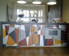 I painted this custom-built kitchen unit for a designer in Bristol