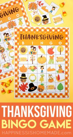 Printable Thanksgivi Printable Thanksgiving Bingo Cards - This Thanksgiving Bingo Game is a ton of fun for kids! Perfect for families classrooms Scouts parties and more! Thanksgiving Games For Kids, Thanksgiving Cards, Holiday Party Games, Holiday Ideas, Holiday Activities, Classroom Activities, Family Activities, Bingo Games For Kids, Valentine Bingo