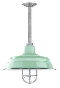 Benjamin™ Bomber Porcelain Gooseneck   Decorative Pendant Light Shade - laundry room idea (without cage)