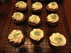 Guinness chocolate cupcakes with Baileys buttercream frosting! Happy St. Patrick's! http://youtu.be/p5Pcg0NXF-w