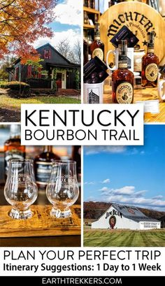 Kentucky Bourbon Trail Itinerary suggestions from 1 day to 1 week. Learn how to plan the perfect long weekend getaway or a longer trip to Kentucky if you have an entire week to spare. #kbt #kybourbontrail #bourbon #kentucky