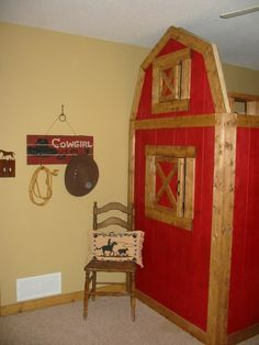 Girls Horse Bedroom | Red Horse Barn Bed Bedroom   Girlsu0027 Room Designs    Decorating