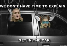 Party dad Thranduil and his son Legolas lol Why do I find these so funny?