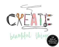 Craft Room Art, Hand Lettering, Art and Craft Supplies, Design by TheBurlapBungalow on etsy.