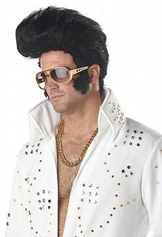 Rock n Roll Elvis Presley Wig Mens Adult Halloween Costume Brand New Elvis Costume, Costume Wigs, King Costume, Halloween Costume Accessories, Halloween Costumes, 1950s Costumes, Adult Halloween, Morris Costumes, Dog Costumes