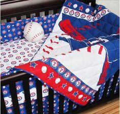 Texas Rangers Baby Crib Bedding Set