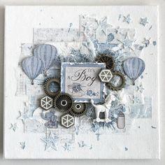 Beautiful Baby Boy Card by Ingrid