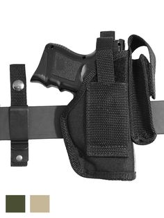 New Barsony Ambi Pancake Holster Dbl Mag Pouch Kimber Ruger 380 Ultra Comp 9mm