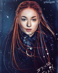 Game of Thrones Sansa Stark - by @carlosgzz003 ° ° ° #sansastark #queeninthenorth #sophieturner #battleofbastards