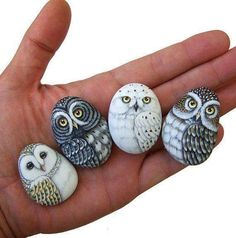 Owl art simple rock painting idea easy rock painting ideas how to make painted rocks painted rocks craft Pebble Painting, Pebble Art, Stone Painting, Diy Painting, Painted Rocks Craft, Hand Painted Rocks, Painted Owls, Painted Stones, Painted Pebbles