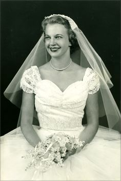 Blushing Brides On Pinterest 1950s 1980s And Veils