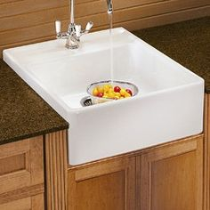 Small Apron Front Sink : ... Sink on Pinterest Farmhouse sinks, Corner sink and Kitchen sinks