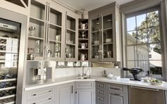 Love the grey for cabinets! It's Galveston grey by Benjamin Moore.