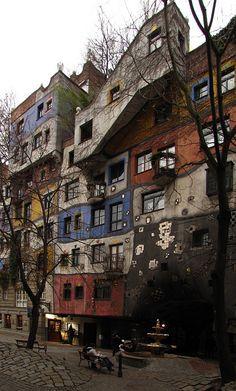 Autumn Hundertwasserhaus Vienna Copyright: Petr Gesp
