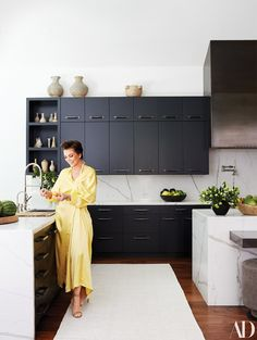 4d4a4ea5c9a Jenner wears a GON dress and Gianvito Rossi shoes in the kitchen. Kris  Jenner Kitchen