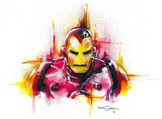 "comicbookartwork: ""Iron man by Tom Morgan """