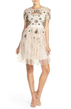 Needle & Thread 'Woodland' Embellished Tulle Fit & Flare Dress available at #Nordstrom