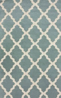 Rugs USA Homespun Moroccan Trellis Spa Blue Rug