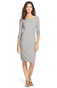 James Perse Skinny Scoop Back Dress available at #Nordstrom