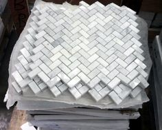 Chevron Marble Tile For Kitchen Backsplash