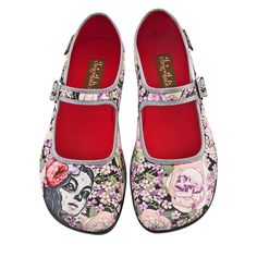 Amazon.com: Hot Chocolate Design Womens Flora La Muerte Mary Jane Flat Multicoloured US Size: 5: Shoes