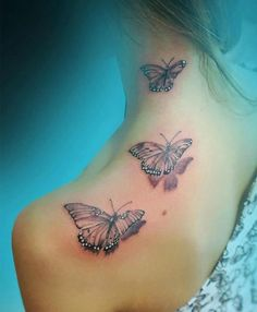 a289eea92ec3b 19 best Butterfly Neck Tattoos For Girls images in 2017 | Back ...