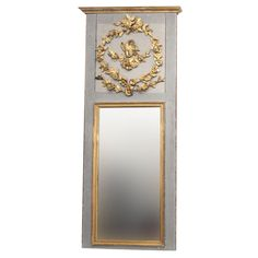 Louis XVI Trumeau Mirror | From a unique collection of antique and modern trumeau mirrors at https://www.1stdibs.com/furniture/mirrors/trumeau-mirrors/