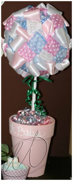 A pink and blue baby shower for twins, a boy and a girl.  http://etcards.blogspot.com/