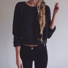 Black and simple.