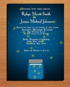 Twilight and Fireflies Wedding Invitation by Sapphiredigitalworks, $20.00
