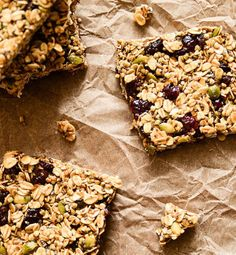 If there's a snack that sums up the fall season, this pumpkin and cranberry granola bar is it.