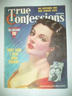 TRUE CONFESSIONS MAGAZINE SEPT. 1940