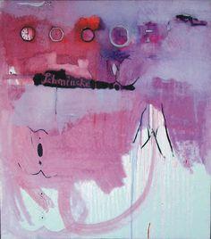''SCHMINKE'', OLEJ, AKRYL, 90X80CM, 2005, ILONA FO