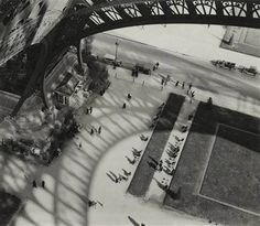 At the Eiffel Tower looking down