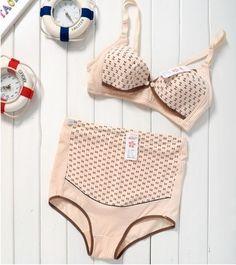 Maternity underwear 100% cotton nursing bra underwear panties maternity shorts adjustable