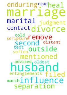 My husband and I are enduring our second marital separation - My husband and I are enduring our second marital separation in a 12 month period.  My husband filed for divorce and a judgment of divorce was signed on March 21, 2016 with a marriage termination date of July 21, 2016.  I have petitioned the court to set aside the judgment, which would make it as though the divorce was never filed, we have a hearing on June 20, 2016.  My husband has had very little contact with me, what contact we…