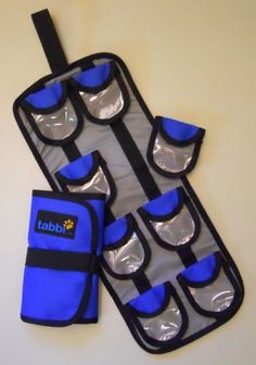 Tabbi Vitamin and Supplement Organizer by Travel Tabbi. Save 20 Off!. $19.99. Introducing tabbiTM, the versatile vitamin and supplement organizer. Now you can travel without compromising your health. tabbiTM is soft-sided and easy to pack. It's flexible, with customizable, detachable pockets. It's durable, made from industrial strength nylon. tabbiTM is made for the way you travel.