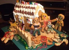 Gingerbread House Zombie Attack...hahahaha i bet you wish we did this Michael.