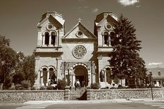 Basilica of St. Francis of Assisi, Santa Fe, New Mexico. Fine Art Photography.
