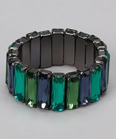 Take a look at this Blue & Green Stretch Bracelet by Majestic on #zulily today!