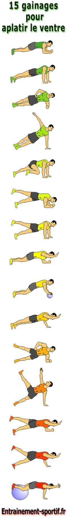 15 gainages pour aplatir le ventre