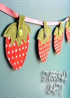 Great Idea if you just can't find the perfect strawberry fabric!