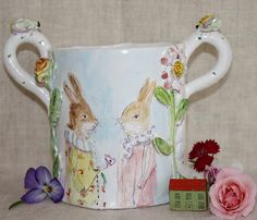 A loving cup by Julie Whitmore Pottery, via Flickr