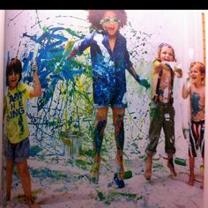 Paint splatter party, yes please.