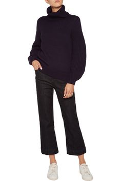 Iris and Ink Alessandra turtleneck cotton and wool-blend sweater 160/64