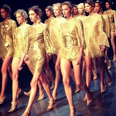 Dolce and Gabbana Spring 2014 covered in #gold coins
