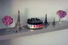 nail polish display on a dresser Cute Nail Polish, Nail Polish Storage, Nail Polish Bottles, Nail Polishes, Us Nails, Hair And Nails, Nail Room, Nail Supply, Nail Polish Collection